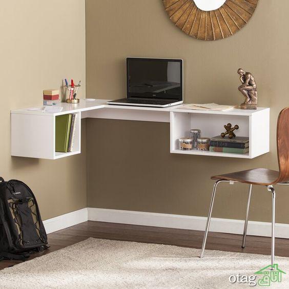 30 مدل میز تحریر دیواری با قابلیت تاشو مناسب اتاق خواب