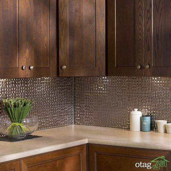 آشنایی با 40 طرح دیوارپوش بین کابینت آشپزخانه با اجرای ساده