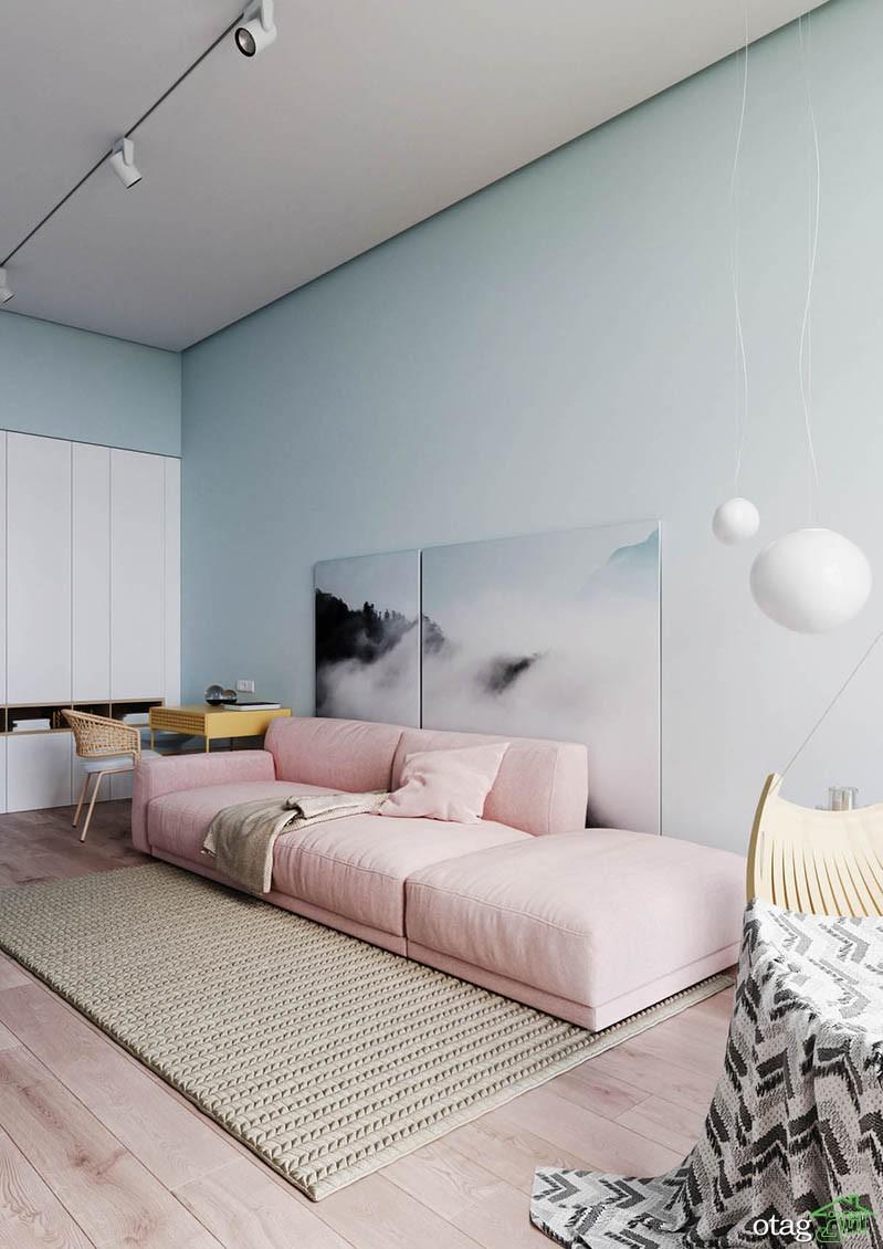 نحوه استفاده از رنگ های پاستلی در دکوراسیون آپارتمان کوچک