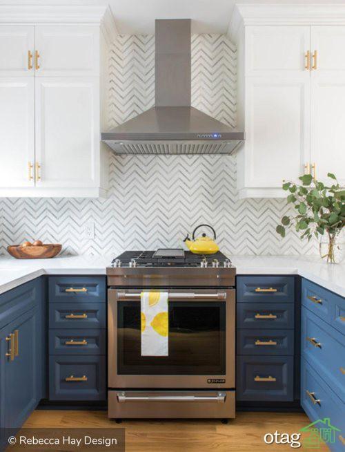 30 مدل کابینت دو رنگ آشپزخانه در طرح های ام دی اف و هایگلاس