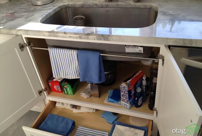 طراحی کابینت زیر سینک ظرفشویی با روش های خلاقانه و کم هزینه