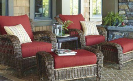 مدل های شیک میز و صندلی حصیری بالکن در انواع چوبی و پلاستیکی