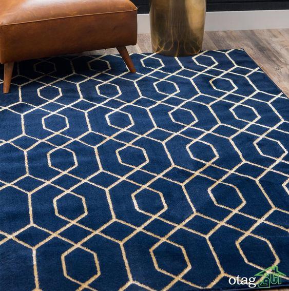 نمونه هایی از طراحی قالیچه آبی برای دیزاین محیط بیرون خانه