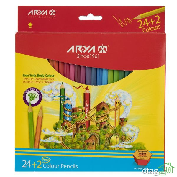 41 مدل بهترین مداد رنگی 12، 24 و 48 رنگ درجه یک + خرید