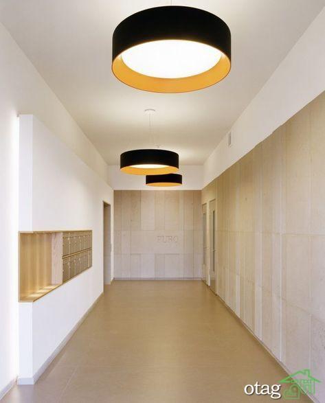 اکسسوری به کار رفته در دکوراسیون لابی ساختمان مدرن
