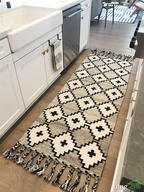 معرفی زیبا ترین طرح های قالیچه کف آشپزخانه