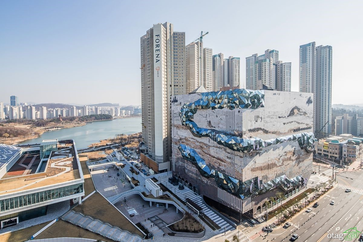 نمونه ای از طراحی ویژه ساختمان در کره جنوبی