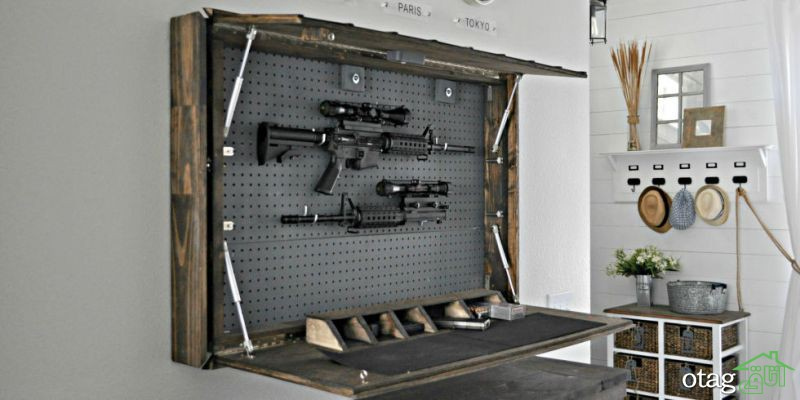 مدل های جالب کمد مخفی اسلحه برای نگهداری در منازل آپارتمانی