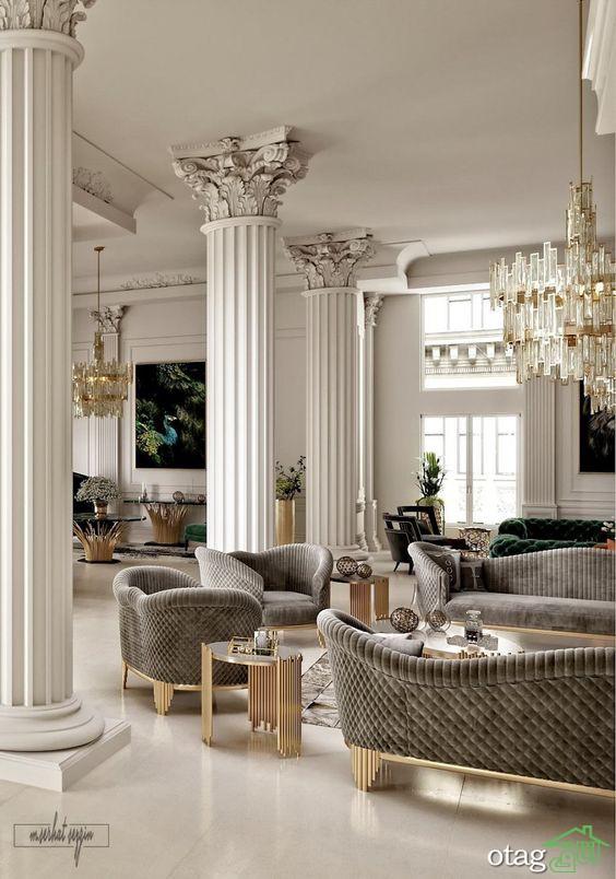 معرفی 40 مدل ستون خانه بسیار شیک در طرح های گرد و گوشه دار