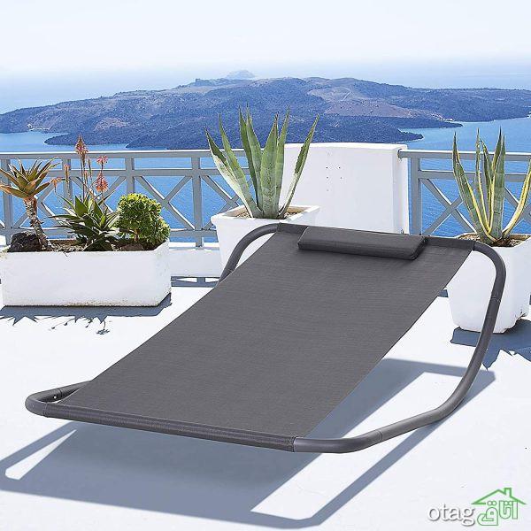 40 مدل تخت حیاطی فلزی، چوبی و حصیری در طرح های جدید و زیبا