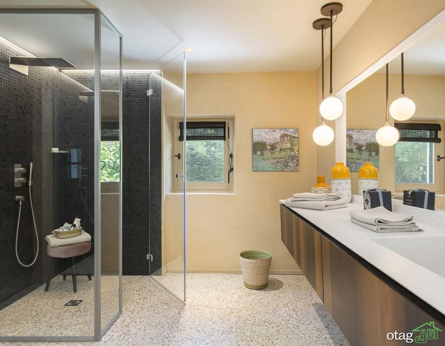آشنایی با شیک ترین مدل های حمام شیشه ای در طراحی داخلی