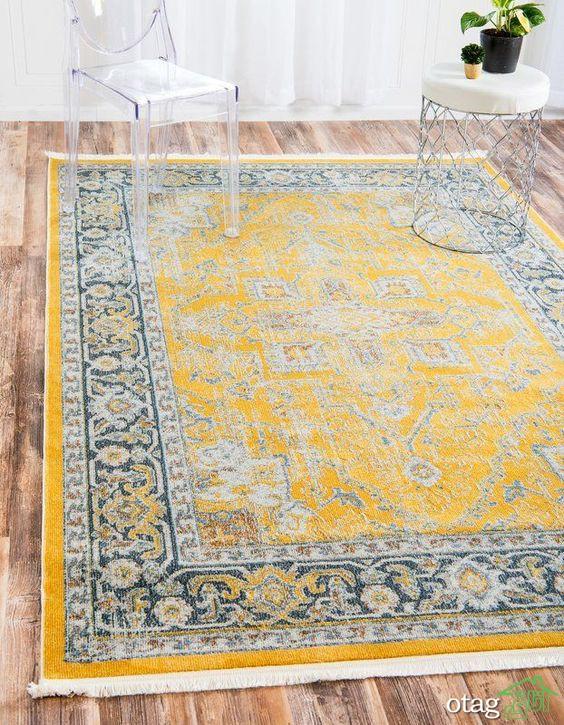 نحوه تزیین اتاق های خانه با انواع رنگ فرش جدید و جذاب