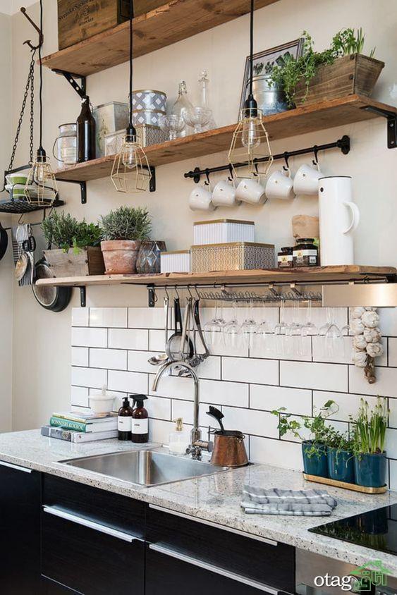 ایده های قفسه باز آشپزخانه برای سازماندهی بهتر