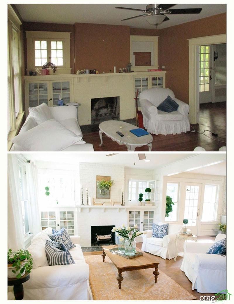 بهترین طراحی داخلی و بازسازی ساختمان و خانه + نمونه