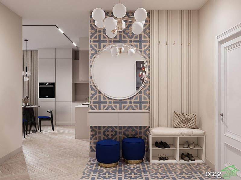 دیزاین آپارتمان 90 متری در انواع یک و دو خوابه بهمراه پلان