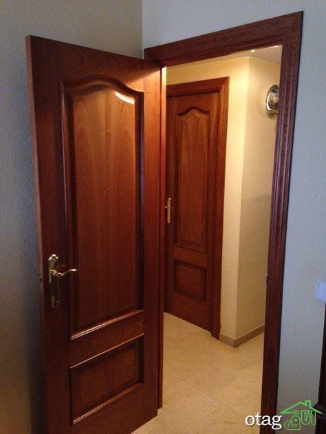 30 مدل جدید درب چوبی اتاق با روکش های بسیار شیک و زیبا