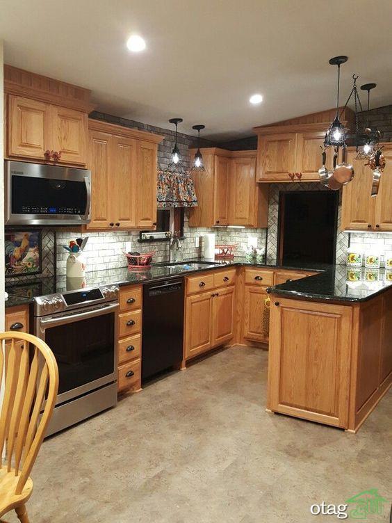30 مدل صفحه کابینت مشکی در آشپزخانه های شیک امروزی