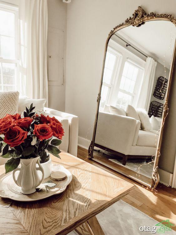 40 مدل آینه قدی پایه دار مناسب اتاق خواب و ورودی منزل