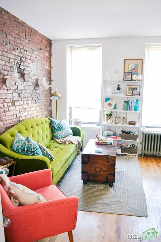 30 مدل مبل راحتی سبز رنگ مناسب اتاق نشیمن های کوچک و بزرگ