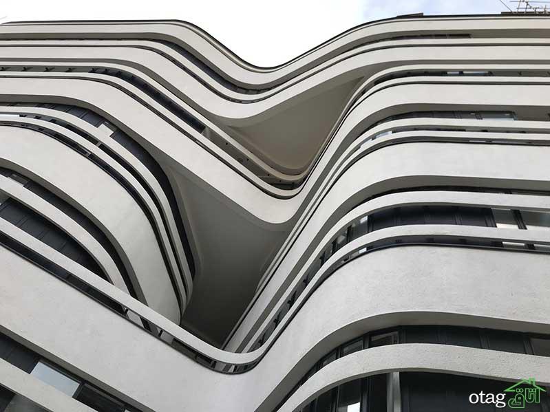 بررسی معماری و طراحی نمای ساختمان پزشکان مدرن اطلس در همدان