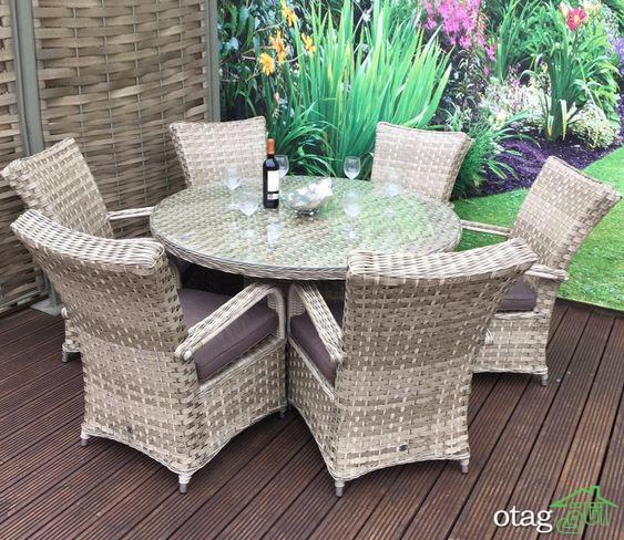 40 مدل میز و صندلی بیرونی مناسب ایوان و بالکن کوچک و بزرگ