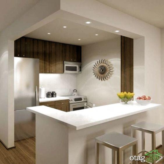 34 مدل دیزاین آشپزخانه کم جا مناسب منازل کمتر از 60 متر