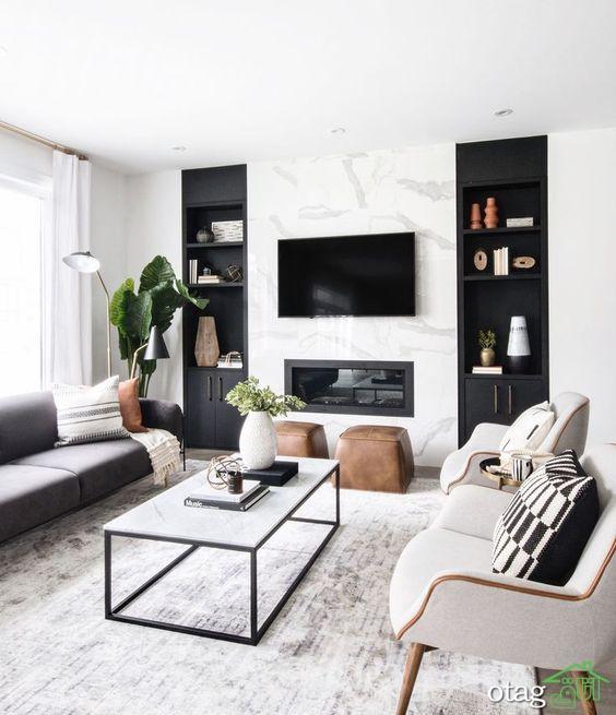 مدل های دیدنی طراحی داخلی معاصر برای اتاق های خانه