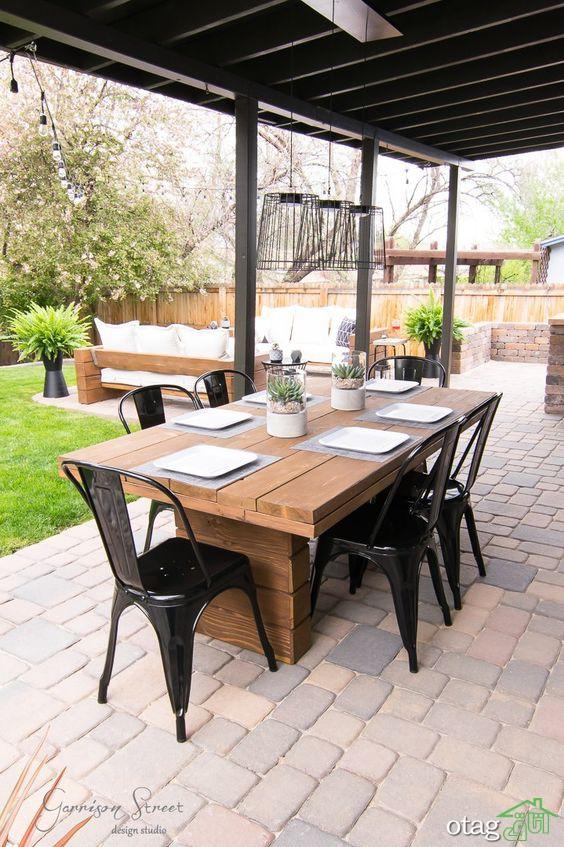 خوش گذرانی در بیرون از محیط خانه با میز غذاخوری پاسیو