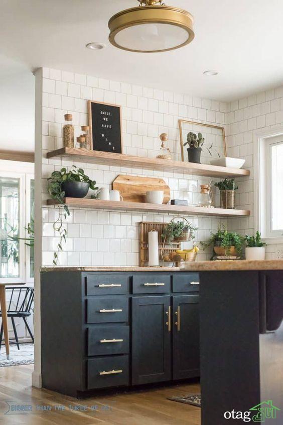 آشنایی با قفسه آشپزخانه چوبی بهترین دیزاین 2020