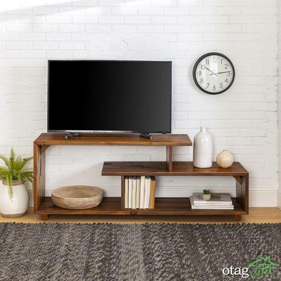 معرفی ویژگی های یک میز تلویزیون کوچک و جمع و جور