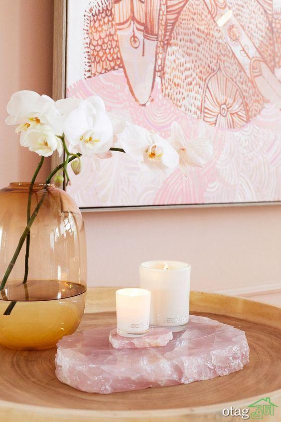 مدل سنگ کریستالی تزیینی بسیار زیبا برای دکوراسیون داخلی خانه