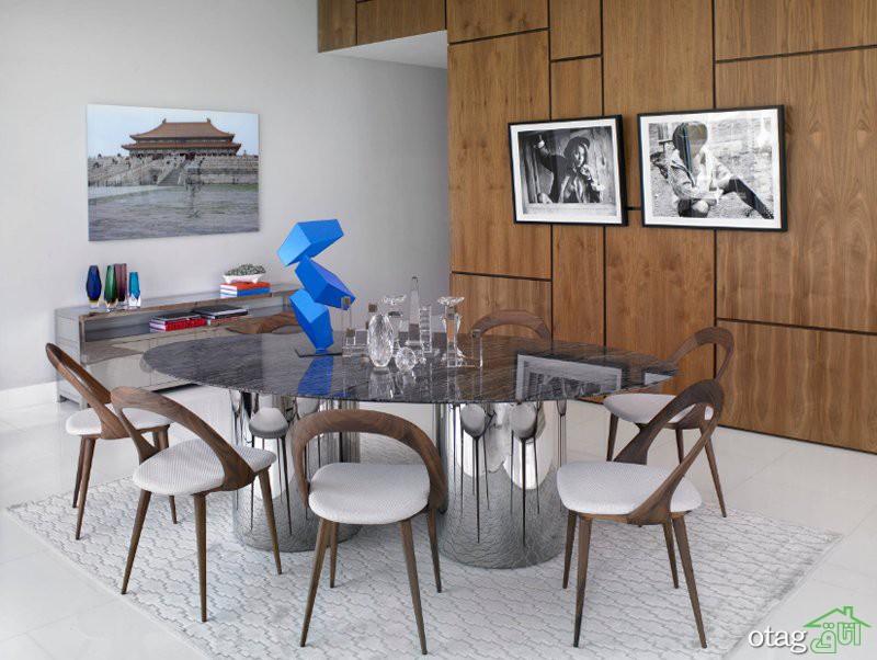 30 مدل صندلی میز ناهارخوری چوبی جدید در رنگ های مختلف