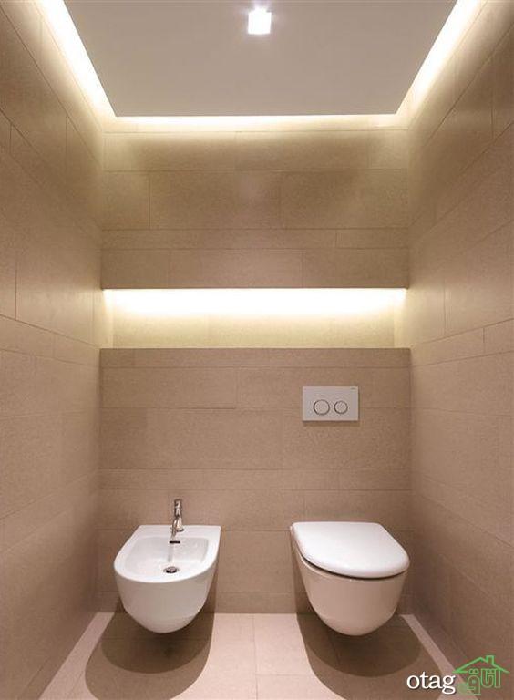 30 مدل سقف دستشویی مدرن در انواع طرح ها با نورپردازی زیبا