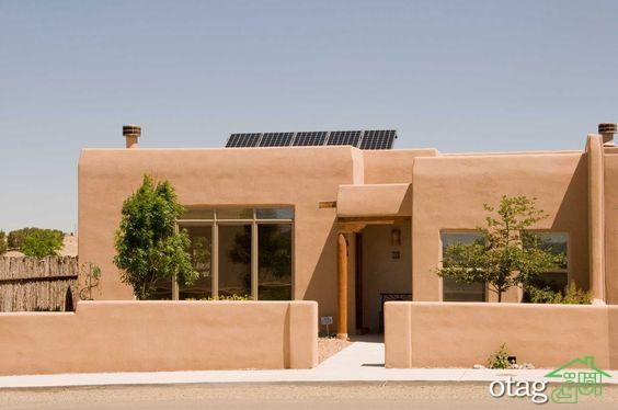 30 مدل نمای خانه گلی و کاهگلی ویلایی و ساده با طراحی مدرن