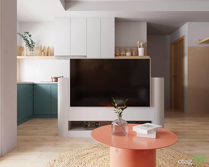 نمونه هایی عالی از دکوراسیون منزل کوچک با طراحی مدرن و شاد