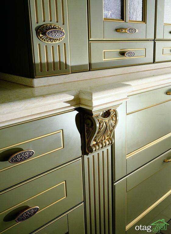 40 مدل کابینت سلطنتی جدید در انواع ممبران و چوب طبیعی