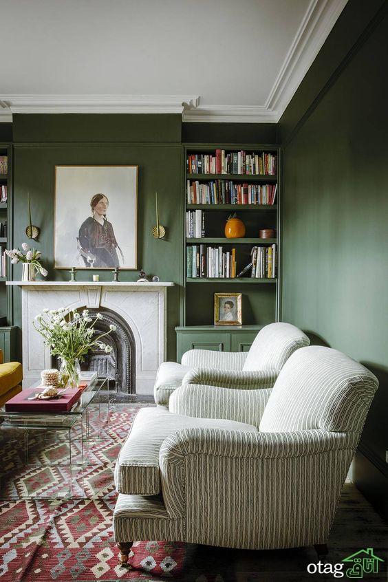 طراحی دکوراسیون داخلی منزل با رنگ سبز نعنایی