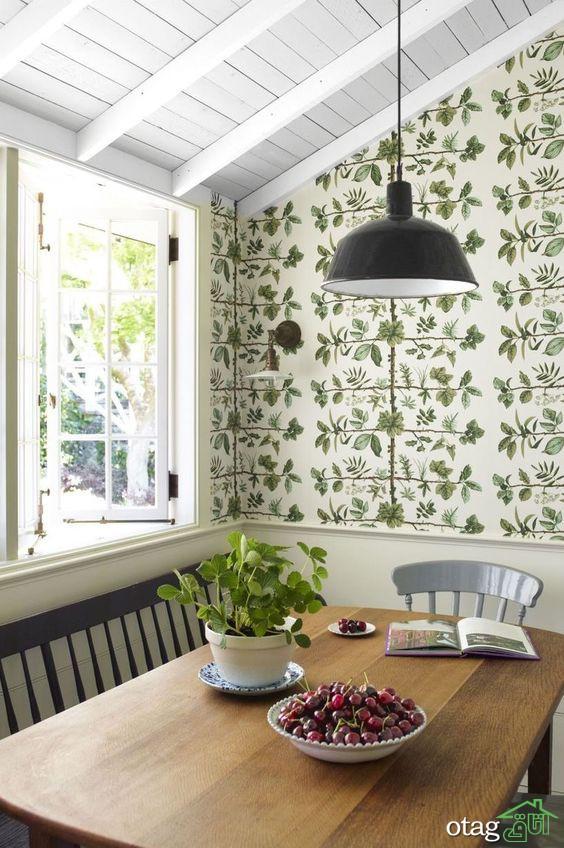 تاثیر بی نظیر کاغذ دیواری آشپزخانه برای تغییر انرژی فضا