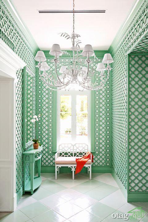 ایده های رنگ سبز نعنایی برای اتاق نشیمن مدل های 2020