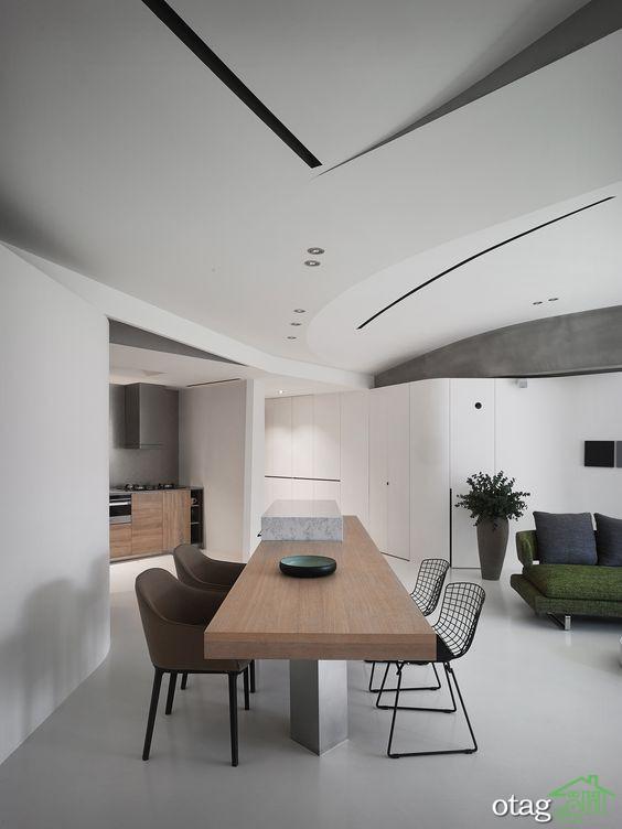 معرفی ایده های جذاب برای طراحی کناف سقف شیب دار + 30 مدل عکس