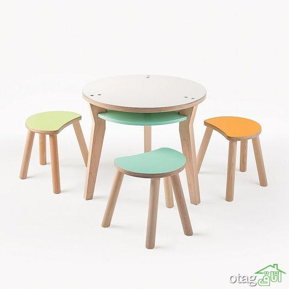 مدل میز و صندلی کودک در انواع چوبی و پلاستیکی با طراحی ایمن