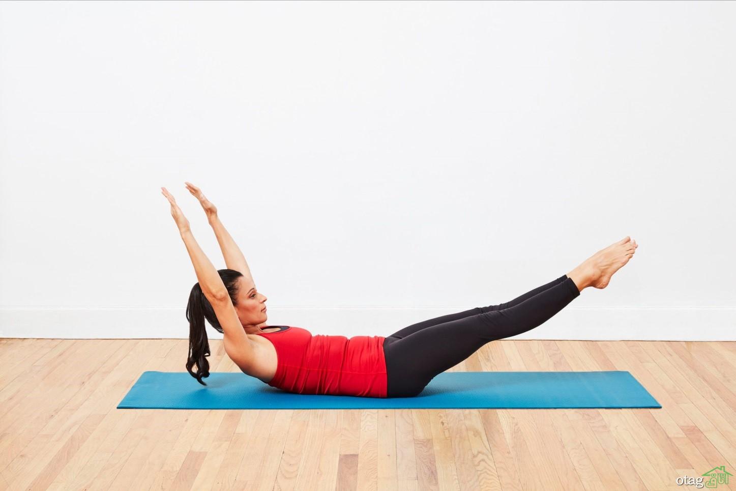 حرکات مدرن ورزش پیلاتس در خانه (در سال 2020) تحول سریع بدن
