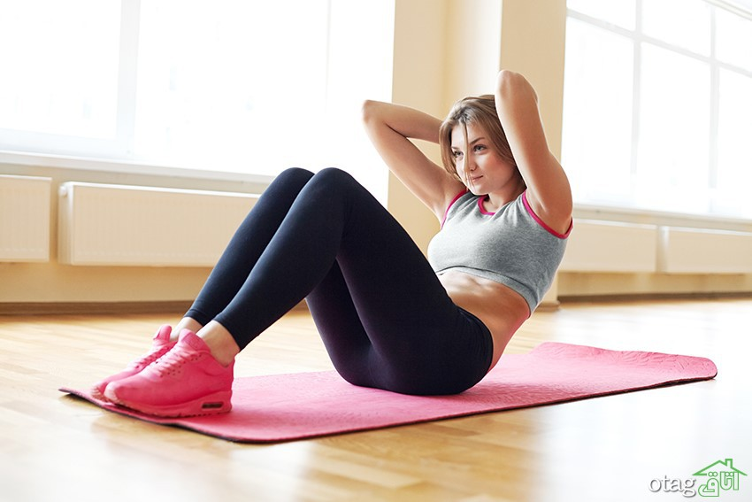 حرکت های ورزش شکم در خانه برای آب کردن چربی شکم در 3 سوت