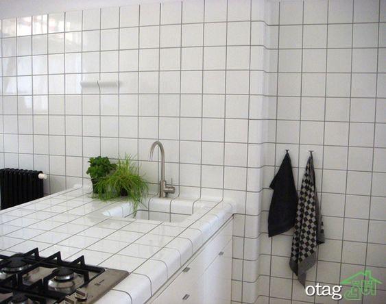 مدل کاشی سفید آشپزخانه در طرح ها و رنگ های بسیار خاص و جدید