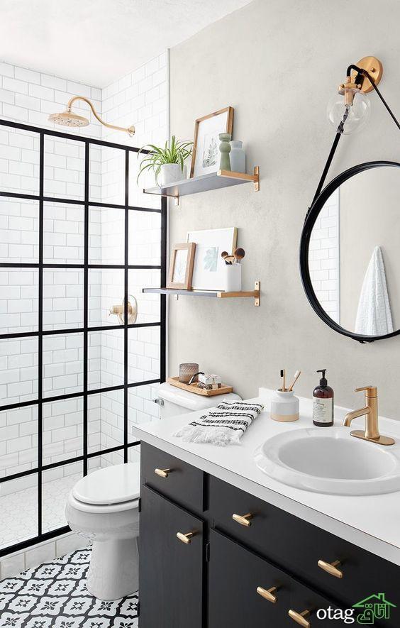 ایده های برجسته حمام سیاه و سفید مدل های دیدنی 2020