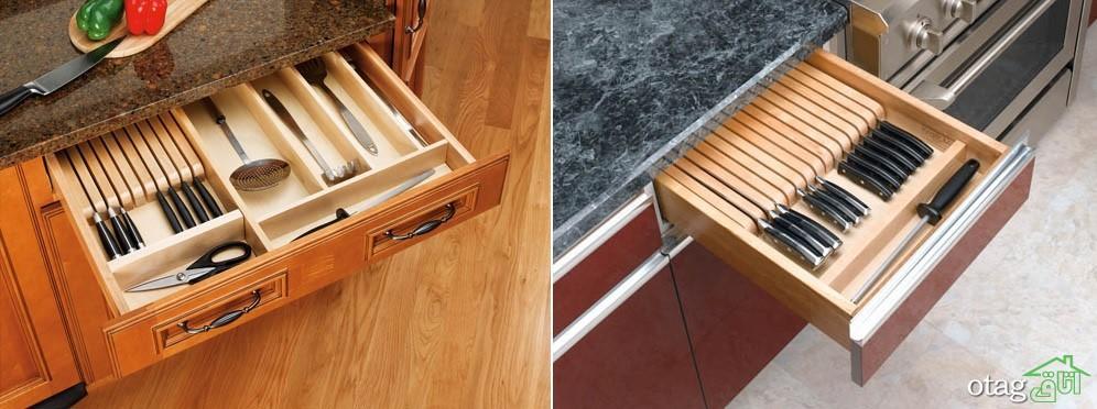 نمونه هایی از سازمان دهنده کشو آشپزخانه در طرح های جدید!