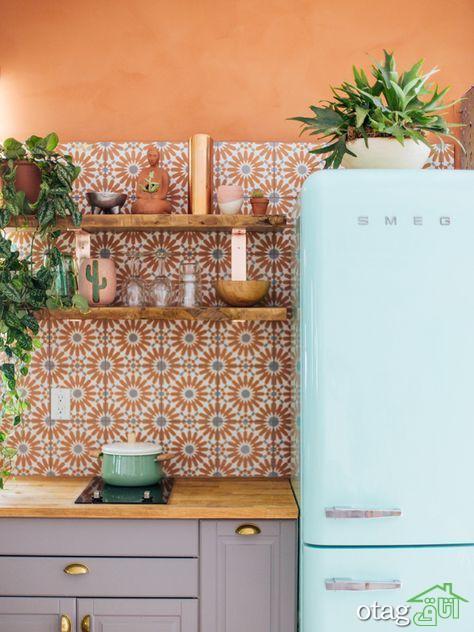 نحوه انتخاب بهترین الگو و رنگ کاغذ دیواری آشپزخانه