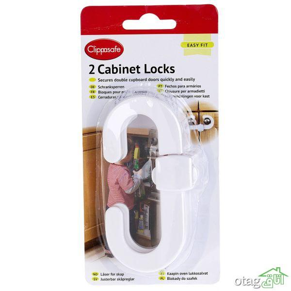 خرید 41 مدل بهترین قفل کابینت کودک + قیمت