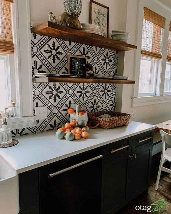 طراحی های متنوع کاغذ دیواری آشپزخانه 30 مدل دیدنی