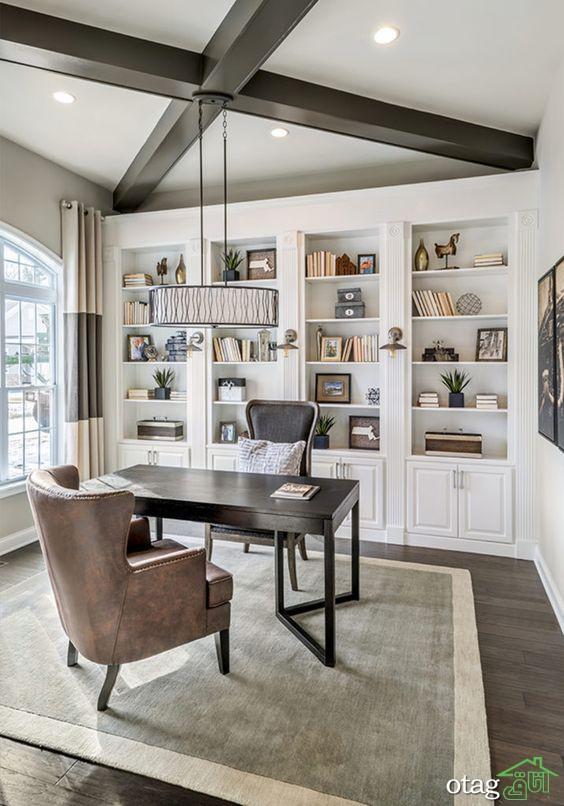 طراحی کتابخانه خانگی؛ مکانی دنج برای مطالعه